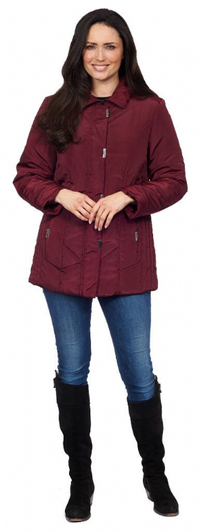 Womens ❤️Plus❤️ Lightweight Quilted Wine Jacket db174